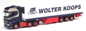 herpa 312547 Scania CS20 HD 6x2 Kühlkoffersattelzug Wolter Koops LKW-Modell 1:87 kaufen