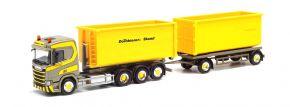 herpa 312660 Scania CR20 ND Wechselladerhängerzug mit Abrollmulden Dornbierer LKW-Modell 1:87 kaufen