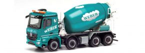 herpa 312707 Mercedes-Benz Arocs M Betonmischer 4a  Weber Betonpumpen LKW-Modell 1:87 kaufen