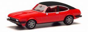 herpa 420570 Ford Capri II mit Vinyldach rot | Automodell 1:87 kaufen