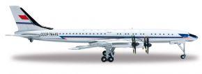 herpa 523073-001 Tupolev TU-114 Aeroflot Flugzeugmodell 1:500