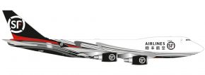 herpa 534222 SF Airlines Boeing 747-400ERF | Flugzeugmodell 1:500 kaufen
