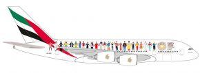 herpa 534352 A380 Emirates Year of Tolerance | Flugzeugmodell 1:500 kaufen