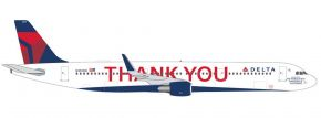herpa 535519 Airbus A321 Delta Air Lines Thank you Flugzeugmodell 1:500 kaufen