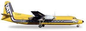 herpa WINGS 558594 Fairchild Hiller FH-227 TAT European Airlines Flugzeugmodell 1:200 kaufen