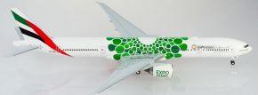 herpa 570664 Emirates Boeing 777-300ER - A6-ENB - Expo 2020 Dubai Sustainability | Flugzeugmodell kaufen