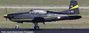 herpa 580519 Pilatus PC7 Turbo Trainer Royal Netherlands Air Force Flugzeugmodell 1:72 kaufen