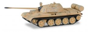 herpa 745642 T55 M Kampfpanzerwagen mit Gebrauchsspuren Militärmodell 1:87 kaufen