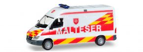 """herpa 927703 Mercedes-Benz Sprinter Halbbus """"Malteser Wien"""" Blaulichtmodell 1:87 kaufen"""