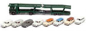 herpa 941464 MB NG Autotransporter-Hängerzug mit Trabis | LKW-Modell 1:87 kaufen