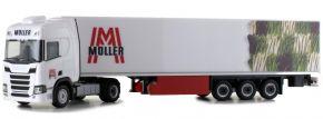 herpa 941709 Scania CR20 HD Kühlkoffersattelzug Müller Spedition LKW-Modell 1:87 kaufen