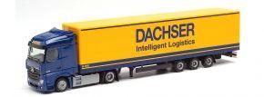 herpa 941877  Mercedes-Benz Actros Gigaspace Gardinenplanensattelzug DACHSER LKW-Modell 1:87 kaufen