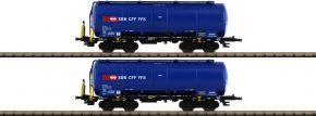 HOBBYTRAIN H23486 2-tlg. Set Silowagen Uacs SBB Cargo | Spur N kaufen