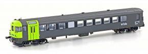 HOBBYTRAIN H23942 BLS Autoverladewagen Steuerwagen BDt grau/grün | Spur N kaufen