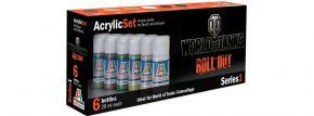 ITALERI 446 Acryl Set 6 Farben für die World of Tanks Roll Out Bausätze kaufen