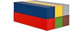 kibri 10922 40-Fuß-Container, 6 Stück Bausatz Spur H0 kaufen