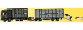 Kibri 12248 Viehtransporter mit Anhänger | LKW-Modell 1:87 | Spur H0 kaufen