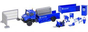 kibri 14901 UNIMOG Triebkopfwagen HOCHTIEF mit Zubehör | Bausatz Spur H0 kaufen