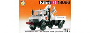 kibri18086 Mercedes-Benz Unimog U1300 mit Ladekran Sprengstoffentsorgung Bausatz 1:87 | B-WARE kaufen