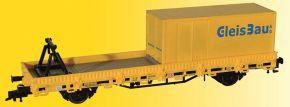 kibri 26264 Schutzwagen mit Auflage für MFS 100 und Container GleisBau Fertigmodell Spur H0 kaufen