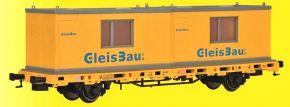 kibri 26268 Niederbordwagen mit Baucontainer GleisBau Fertigmodell 1:87 kaufen