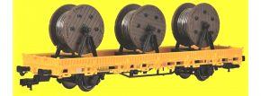 kibri 26269 Niederbordwagen mit Kabelrollen GleisBau Fertigmodell 1:87 kaufen
