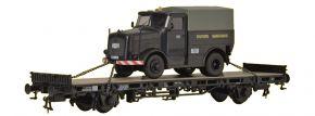 kibri 26270 Niederbordwagen mit Kälble Zugmaschine | Spur H0 kaufen
