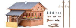 kibri 38011 Berghaus mit Hausbeleuchtung-Startset | Gebäude Bausatz Spur H0 kaufen