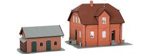 kibri 38190 Siedlungshaus Bottrop mit Nebengebäude Bausatz Spur H0 kaufen