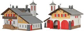 kibri 39214 Feuerwehr mit Dorfgemeinschaftshaus Bausatz Spur H0 kaufen