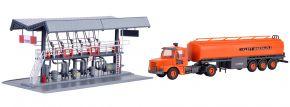 kibri 39834 MIRO Abfüllstation mit SCANIA Tankwagen | Bausatz Spur H0 kaufen