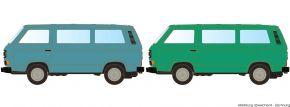 LEMKE LC4347 VW T3 2er Set Bus grün + blau   Modellautos 1:160 kaufen