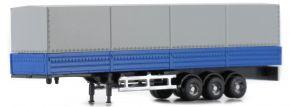 LEMKE LC4063 Sattelauflieger mit Plane für MAN F90 blau   Modellanhänger 1:160 kaufen