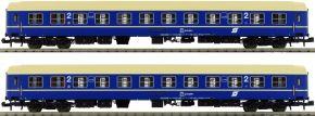 L.S.Models 77052 2-tlg. Set Liegewagen Bcmz, blau/creme, ÖBB   Spur N kaufen