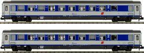 L.S.Models 77180 2-tlg. Set Liegewagen Bcmz, blau/grau, ÖBB   Spur N kaufen