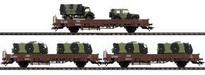 märklin 46934 Niederbordwagenset Militärtransport DSB | Spur H0 kaufen