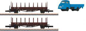 märklin 82132 Rungenwagen-Set Fahrzeugtransport DB | Spur Z kaufen