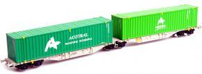 MEHANO 58966 Containerwagen Sggmrss90 Acotrail AAE | DC | Spur H0 kaufen