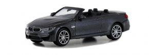 MINICHAMPS 870027230 BMW M4 Cabrio F83 2015 graumetallic Automodell Spur H0 kaufen