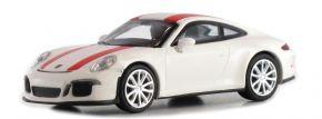 MINICHAMPS 870066220 Porsche 911 R  2016 weiss mit roten Streifen Automodell 1:87 kaufen