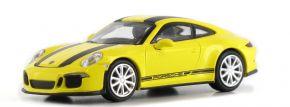 MINICHAMPS 870066222 Porsche 911 R  2016 gelb mit schwarzen Streifen 1:87 kaufen