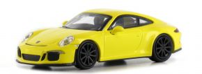MINICHAMPS 870066224 Porsche 911 R  2016 gelb mit schwarzen Felgen Automodell  1:87 kaufen
