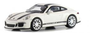 MINICHAMPS 870066226 Porsche 911 R  2016 weiss mit schwarzen Streifen Automodell  1:87 kaufen