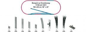 MINITRIX 14311 Gleis-Ergänzungspackung H1 | Spur N kaufen