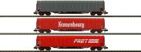 MINITRIX 15115 Schiebeplanwagen-Set 3-tlg. Rils SNCF   Spur N kaufen