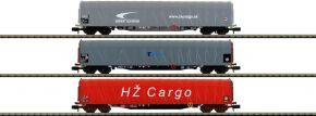 MINITRIX 15116 Schiebeplanwagen-Set 3-tlg. Rilns CD Cargo   Spur N kaufen