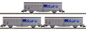 MINITRIX 15282 Schiebewandwagen-Set SBB Cargo | Spur N kaufen