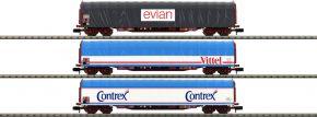 MINITRIX 15375 Schiebeplanenwagen-Set Mineralwassertransport SNCF | Spur N kaufen