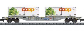 MINITRIX 15470 Containerwagen Sgns coop SBB Cargo | Spur N kaufen