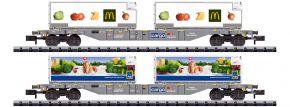 MINITRIX 15488 Containertragwagen-Set Kühltransport SBB | Spur N kaufen